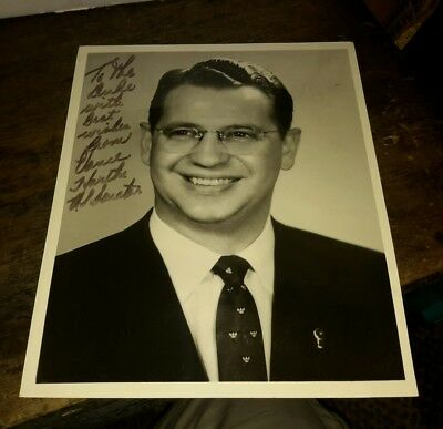 Autographed Photo US Senator Vance Hartke, Indiana