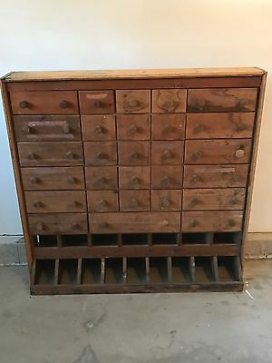 Antique Cabinet Handmade Many Drawers