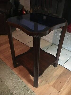 1920-1930's Art Deco Blue Cobalt Side Table