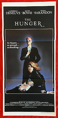 THE HUNGER - Original Vintage 1983 Daybill Movie Poster - Horror - David Bowie