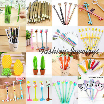 26 Style Cute Cartoon Gel Ink Ballpoint Pens School Office Supplies Stationery