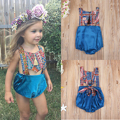 AU Stock Toddler Baby Girl Kid Bodysuit Romper Jumpsuit Sunsuit Outfits Clothes