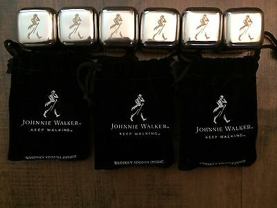 Johnny Walker New In Bags Whiskey Cubes Set Of 6 Stainless