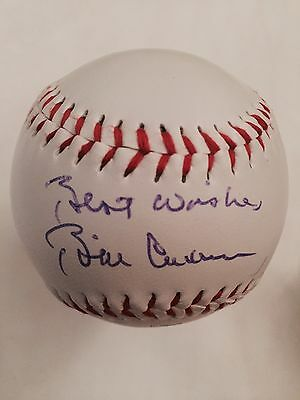 Bill Clinton hand signed autographed rawings baseball Best wishes inscription