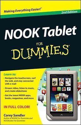 Nook HD for Dummies, Portable Edition by Corey Sandler (Paperback / softback,...