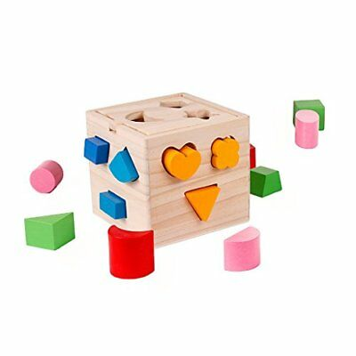 Wooden Shapes Sorter Colors Matching Sorting Toddler Learning Educational Toys