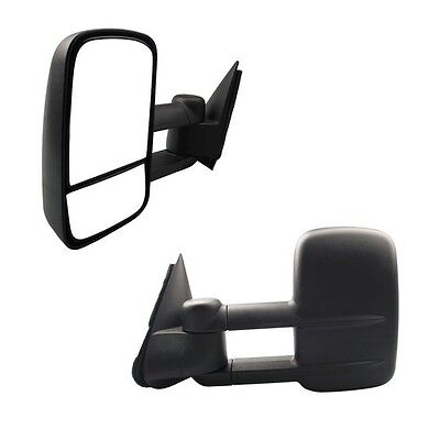 97-03 FORD F-150//97-99 F-250 TOWING EXTENDABLE POWER MIRROR DRIVER LEFT LH BLACK