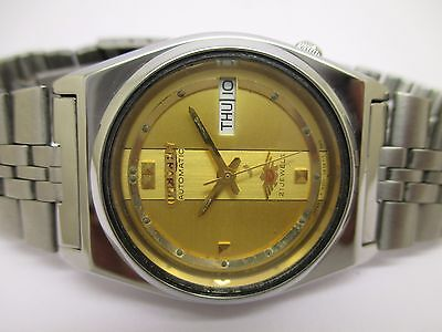 Vintage Men's Citizen Automatic Day & Date Beautiful And Excellent Wrist Watch