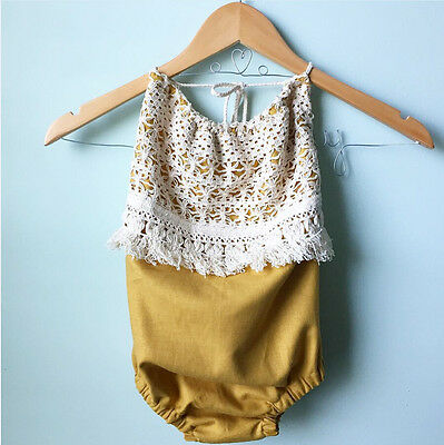 AU Stock Kids Baby Girls Romper Lace Jumpsuit Bodysuit Clothes Outfit Sunsuit