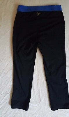 Girls Old Navy Active Black Workout Sports Pants Blue Stretch Waist Small Petite