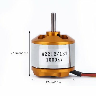 1000KV A2212 Fixed Wing Shaft Rotor Brushless Motor f.RC Airplane Aircraft Drone