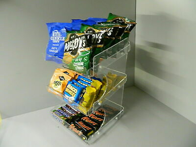 Counter display 3 tier chocolate  crisps & sweet  ( impulse buys )