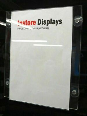 Window Display Poster holder with suction cups 1 or 3 s sizes to choose from
