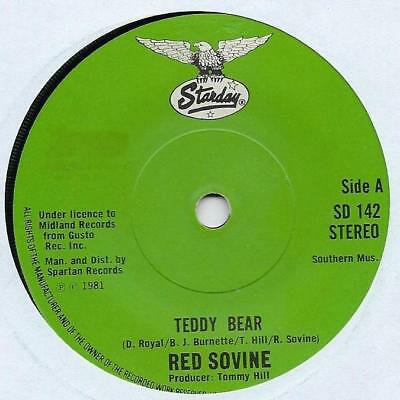 "Red Sovine - Teddy Bear - 7"" Single"
