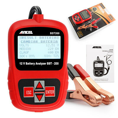 Ancel BST200 Car Battery Load Tester 12V Battery Analyzer Lead Acid AGM GEL AU