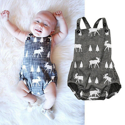 AU Stock Baby Boys Clothes Playsuit Bodysuit Romper Jumpsuit Outfit Sunsuit