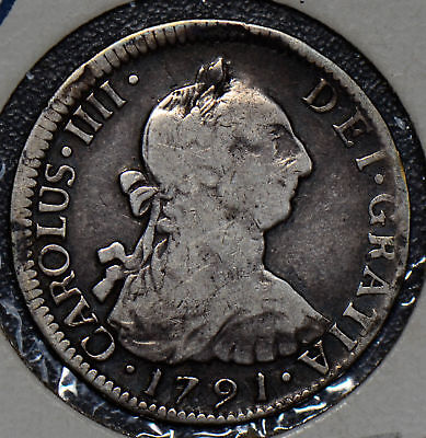 C0255 Chile 1791 2 Reales silver  SO, rare mint Less than 54,000 minted, many me