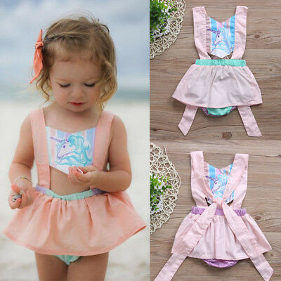 AU Stock Newborn Baby Girls Romper Bodysuit Jumpsuit Clothes Cotton Pink Outfits