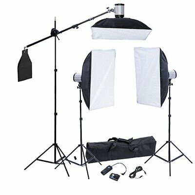 vidaXL SET STUDIO FOTO ILLUMINAZIONE 3 FLASH FOTO STATIVI SOFTBOX 50X70 CM BORSA