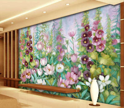 Colorful Daisy 3D Full Wall Mural Photo Wallpaper Printing Home Kids Decoration