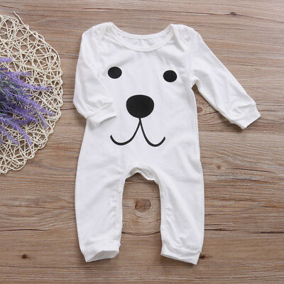 AU Stock Toddler Newborn Baby Girl Boy Romper Bodysuit Jumpsuit Clothes Outfits