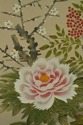 Hanging Scroll Japanese Painting Flower Japan Asian Art ink Antique Picture u45