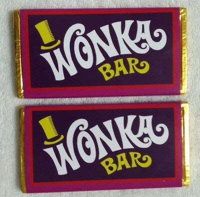 50g Milk Chocolate Willy Wonka and the Chocolate Factory WONKA BAR! ( Costume )