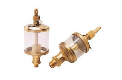 """1/8"""" PT Thread Needle Valve Type Oil Cup Sight Gravity Drip Feed Oilers 50ml Y"""