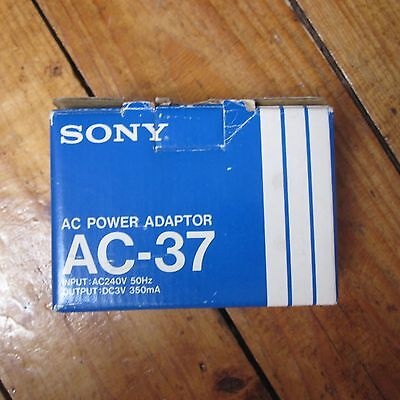 Sony AC-37 Power Adapter for Early Walkman WM7 etc 1981 NEW Old Stock 3V 350mA