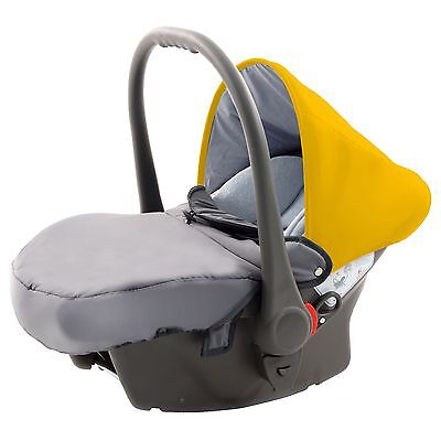 Knorr Baby Autositz Voletto Babyschale Gr. 0+, 0-13 kg grau-orange TOP