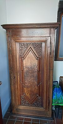 18th century solid oak French armoir single door, stunning piece
