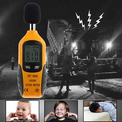 HT-80A Sound Level Meter LCD Digital Screen Display Noise Pressure Tester JK