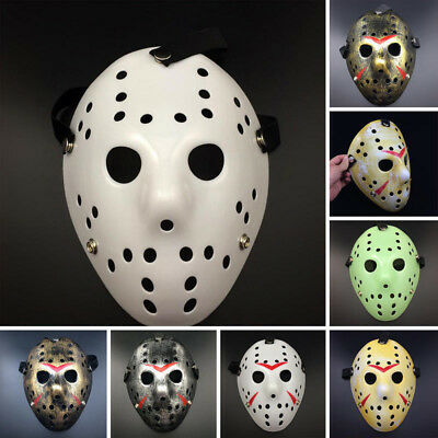 Jason Voorhees Scary Prop Hockey Halloween Cosplay Creepy Mask Friday 13th Great