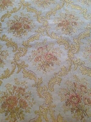 Antique French Floral Woven Silk Jacquard Fabric