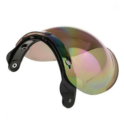 Motorcycle 3 Snap Helmets Visor Shield Flip Up Down Lens for Harley Colorful