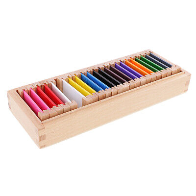 Montessori Sensorial Material Toy Medium Color Box Kids Educational Learning