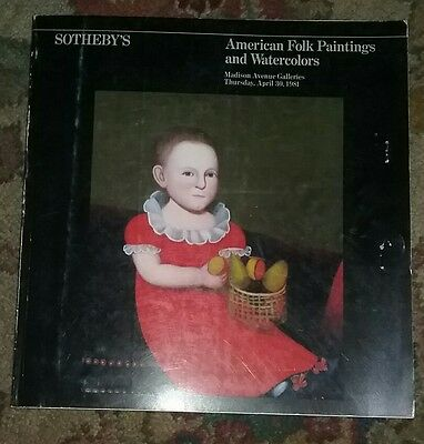 SOTHEBY'S New York American Folk Paintings and Watercolors April 1981 Sale 4593M