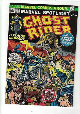Marvel Comic Marvel spotlight on the ghost rider #9 April 1973