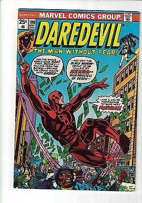 Marvel Daredevil and the Black widow Comic no 109 May 1974 Nekra, Beetle app 25c