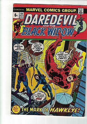 Marvel Daredevil and the Black widow Comic no 99 May 1973 Guest Staring Hawkeye