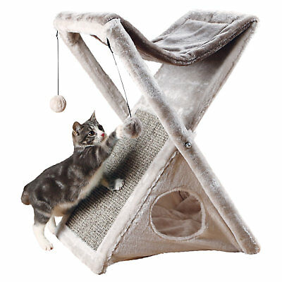 """Trixie Miguel Fold and Store Cat Tower, 25.5"""" H"""