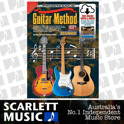 Progressive 54048 GUITAR METHOD for Beginners Book 1 ( One / First ) w/CD & DVD