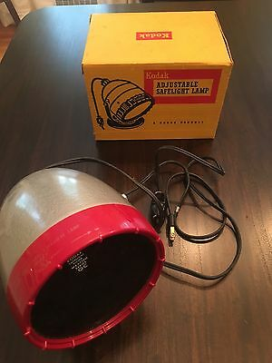 Kodak Adjustable Safelight DARKROOM LAMP w/box (works!!)
