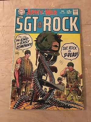 Our Army at War 202 (DC 1968) Gd- Sgt Rock dead? GREAT Kubert cover!