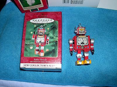 Hallmark Ornament 2000 ROBOT PARADE  1st in Series MIB Handcrafted & Tin