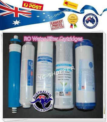 5 Stage Reverse Osmosis Water Filters Cartridges  + RO Membrane Filter