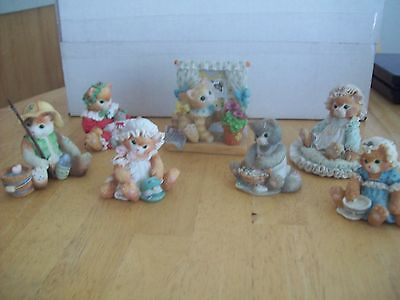 Calico Kittens  Set Of Seven Figurines ,,,batch #1