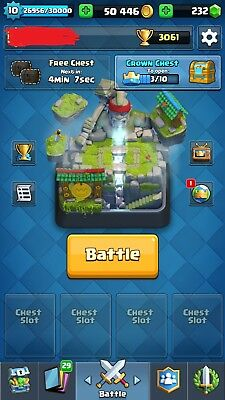 Clash Royale Account - EVERY LEGENDARY CARD - 50K GOLD - NAME CHANGE AVAILABLE