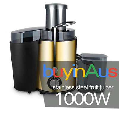 Brand New Juicer 1000W Stainless Steel Juice Extractor 12 Month Warranty