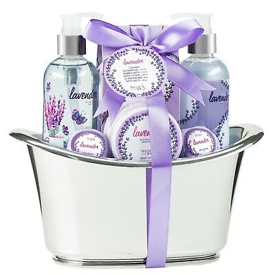 Relaxing Lavender Large Aromatherapy Bath And Body Spa Gift Basket For Women